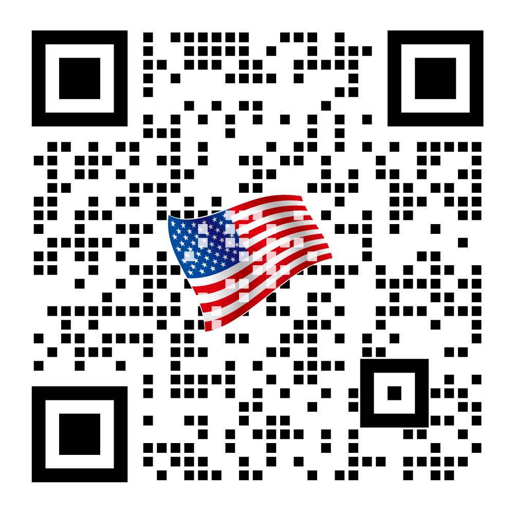 アメリカ国旗と合成