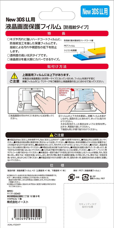 new NINTENDO 3DS LL用液晶保護フィルムパッケージ ウラ面
